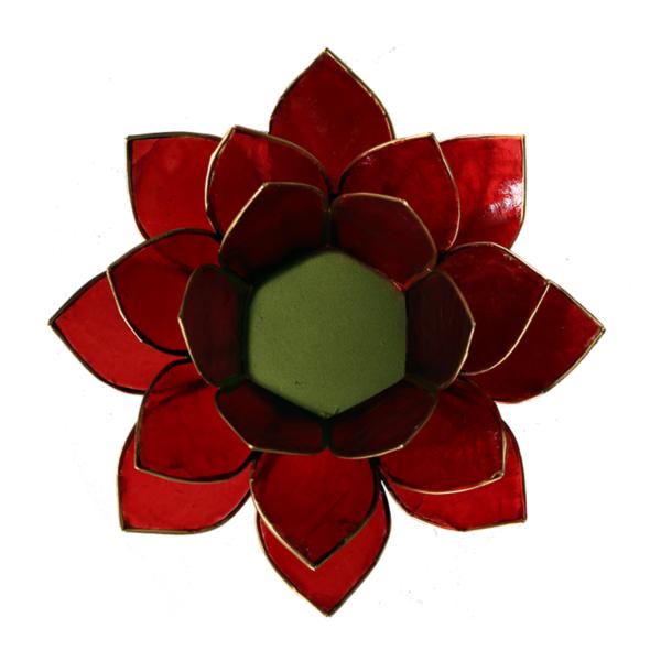 Lotus Leuchte - Rot