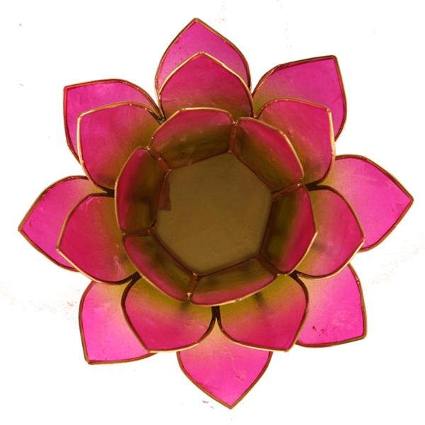 Lotus Teelichthalter lila
