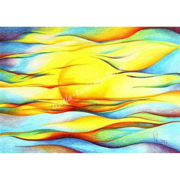 Sonne - Energie des Lebens - Postkarte