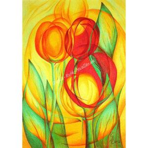 Tulpenerwachen - Postkarte