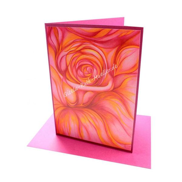 Die Rose - Doppelkarte