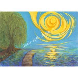 Ein Licht Trauer Trost Hoffnung - Postkarte