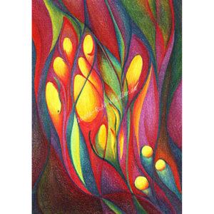 Gelbes Leuchten - Postkarte