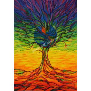 Lebensbaum-Erde - Postkarte