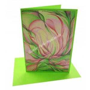 Magnolienblüteninspiration - Doppelkarte