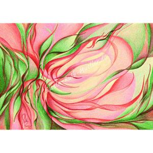 Magnolienblüteninspiration - Postkarte