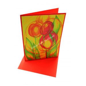 Tulpenerwachen - Doppelkarte