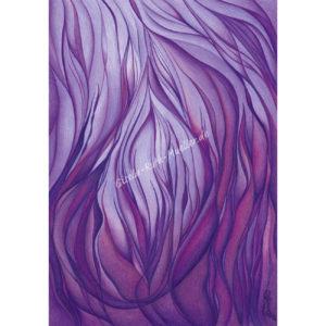 Violette Flamme - Postkarte