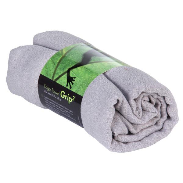 Yogatuch GRIP ² Yoga Towel mit Antirutschnoppen hellgrau Mit Antirutschnoppen