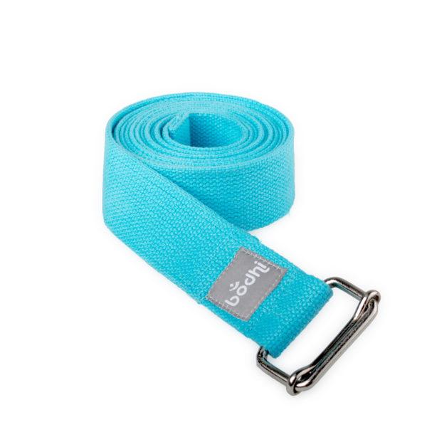 Yogagurt ASANA BELT, mit Schiebeschnalle aqua Kräftiger breiter Baumwollgurt, 2,5m / 38mm