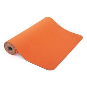 TPE Yogamatte LOTUS PRO orange/anthrazit 6 mm - weiche, griffige Oberfläche, recyclebar