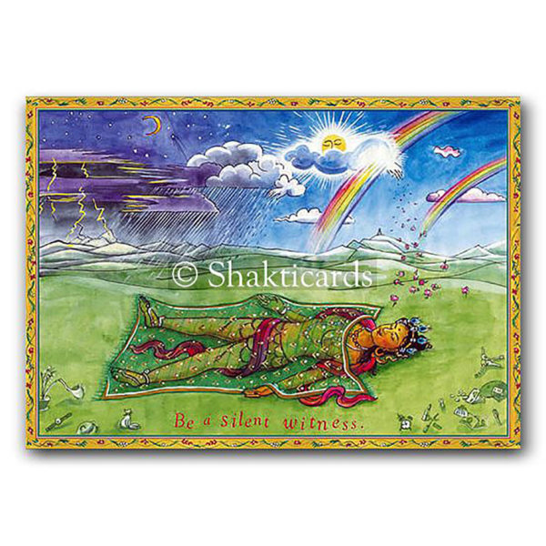 Be a Silent Witness Shakticard, 14,8 x 10,5 cm