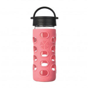 Lifefactory 350ml Glas-Trinkflasche mit Classic Cap, coral