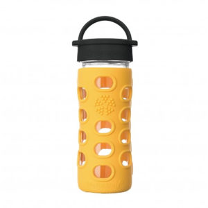 Lifefactory 350ml Glas-Trinkflasche mit Classic Cap, kale