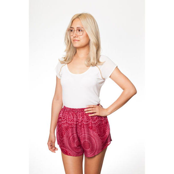 Pinke Mandala Shorts von paigh
