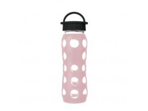 Lifefactory 650ml Glas-Trinkflasche mit Classic Cap, desert rose