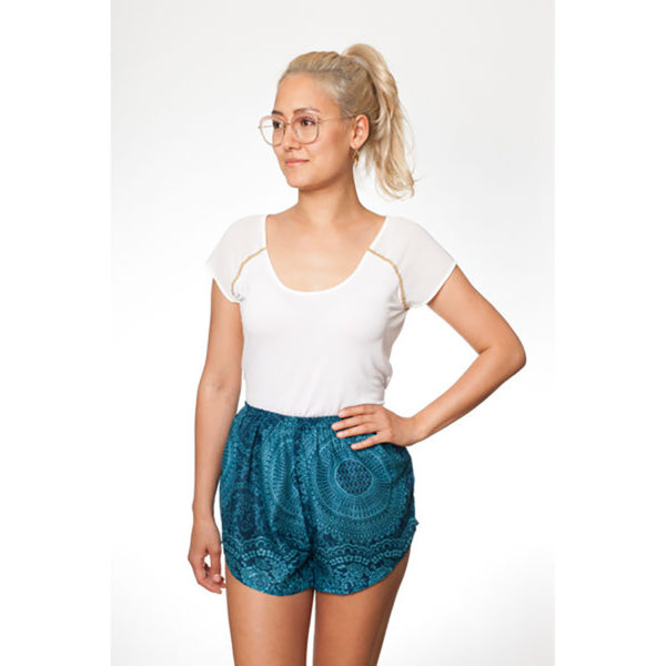 Türkise Mandala Shorts von paigh
