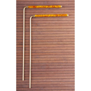 Wünschelrute, 22 cm Messing mit Kupfergriff