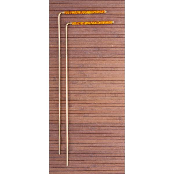 Wünschelrute, 34 cmMessing mit Kupfergriff
