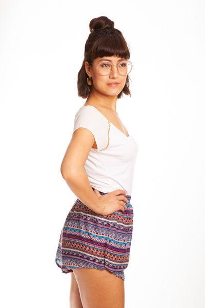 Lila Bambus Shorts von paigh