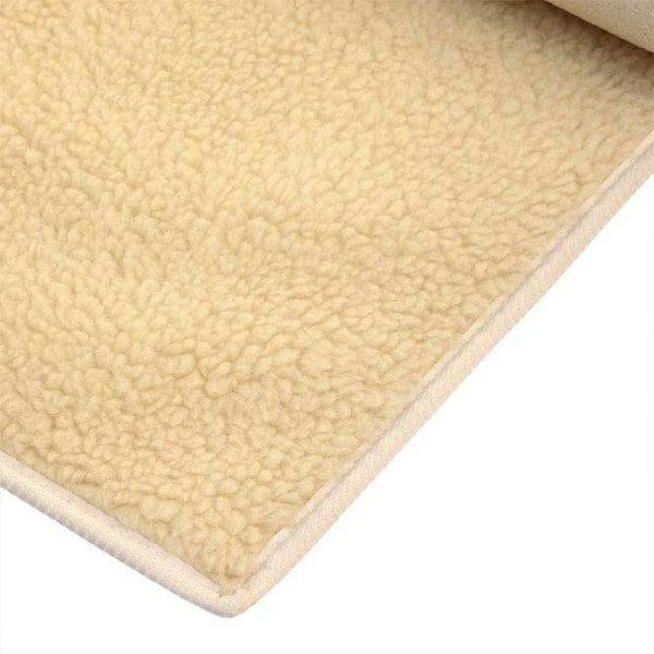 Schurwoll-Yogamatte VISHNU Premium (umsäumt) 75 x 200 cm, 100% Schafschurwolle (1200g/m²)