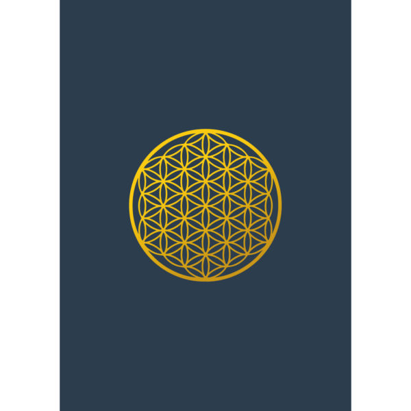 Blume des Lebens - Postkarte
