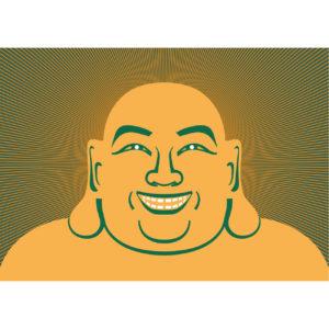 Postkarte - Lächle un die Welt verändert sich - Buddha