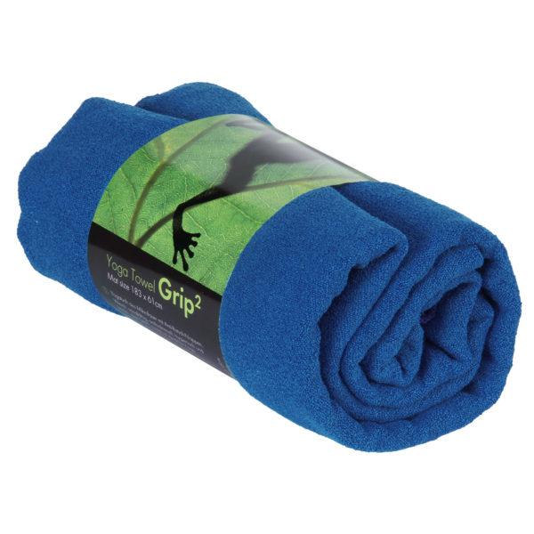 Yogatuch GRIP ² Yoga Towel mit Antirutschnoppen blau Mit Antirutschnoppen