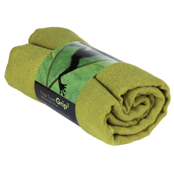 Yogatuch GRIP ² Yoga Towel mit Antirutschnoppen olivgrün Mit Antirutschnoppen